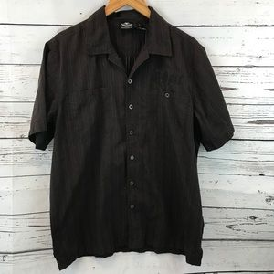 Harley Davidson Dotted Short Sleeve Shirt Large